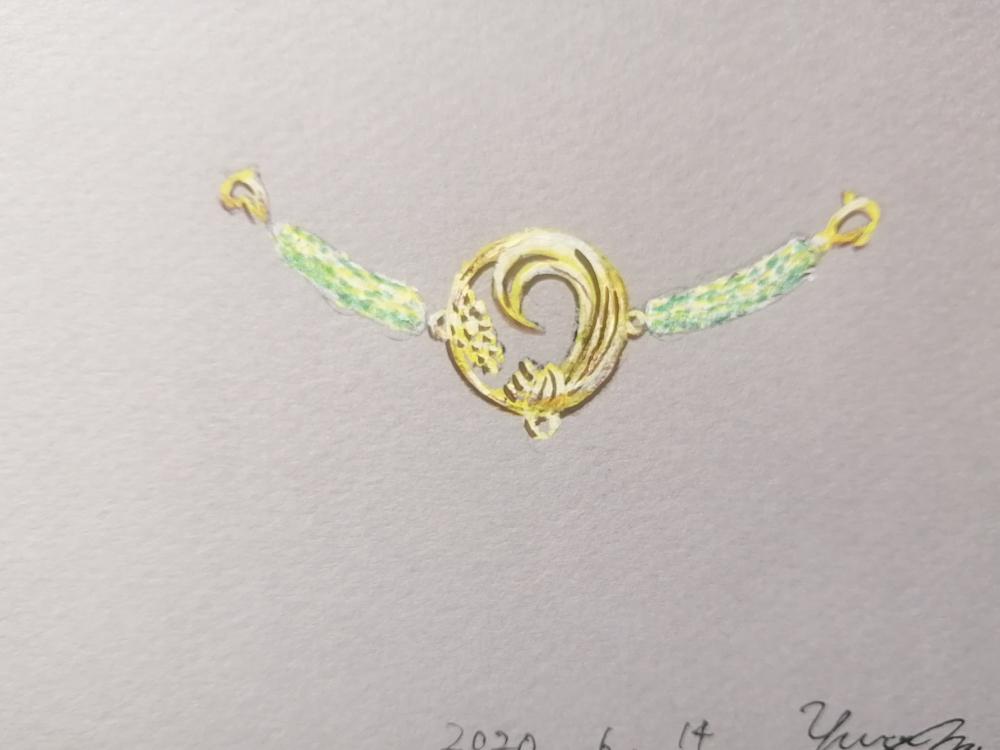 稲穂の羽織紐