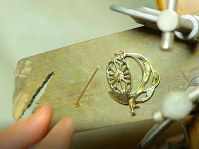 18金 オーダーメイド アクセサリー ブローチ ネックレス リメイク
